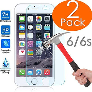 2 Packs iphone Screen Protector, 0.26mm [Lifetime Warranty Tempered Glass Protection] Anti-scratch Nano Tempered Screen Protecto
