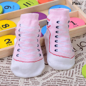 1 pair Infant Newborn  Socks Winter Cotton Sock Baby Non-slip Socks Baby 0M-12M Clothing Accessories