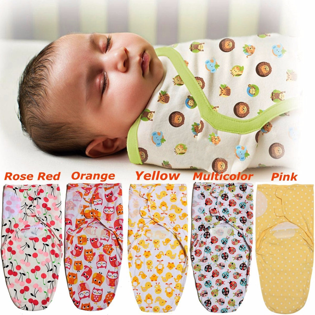 100% Cotton Soft Baby Swaddle Wrap Blanket Sleeping Bag For 0-12 Months Infant 29.53