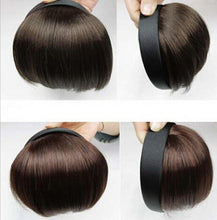 2016 New Fashion Women Girls Clip on Clip In Front Hair Bang Fringe Hair Extension Straight Cosplay Wig Black Straight Hair Acce