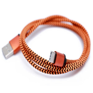 1M USB C 3.1 to USB Type C Cable 1 Meter Nylon Braided USB Data Cable Metal Connector For Type-C Devices