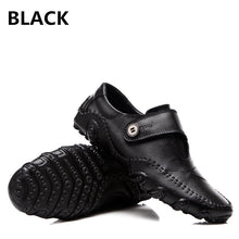 2017 Men's Autumn Genuine Leather Casual Shoes Black / Brown Fashion Driving Shoes