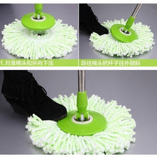 2016 Fashion New 360 Rotating Head Easy Magic Floor Spin Mop Bucket Heads Microfiber Spinning (Only Mop Head)