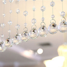 1 Meters Glass Crystal Clear Beads Window Drapes Partitio Home Decoration Hanging Curtain