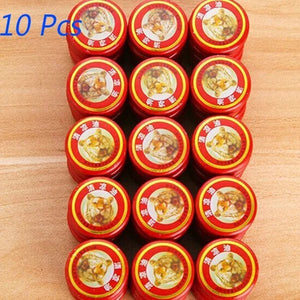 10 Pcs Tiger Essential Balm Essential Oils For Mosquito Elimination Headache Cold Dizziness
