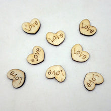 100pc Rustic Wooden Love Heart Craft Embellishment Wedding Decoration Favours