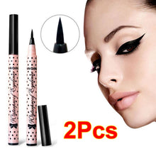 2 Pcs NEW Eyeliner Waterproof Liquid Eye Liner Pencil Pen Make Up Beauty Cosmetics (Color: Black) (Color: Pink)