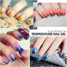 24 Colors Modelones Beauty 7ml Nail Gel Color Changing with Temperature Chameleon Glitter Lacquer