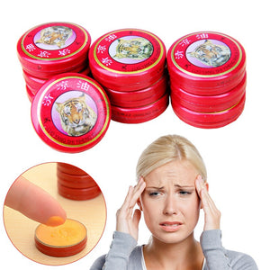 10pcs Tiger Balm Red Refresh Cold Headache Dizziness Muscle Relax Essential Oil (Size: 1)