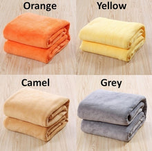 11 Colors Large Size Solid Coral Fleece Blanket Plaid Couverture Polaire Manta Para Sofa Throw Blankets on Bed Home Mantas