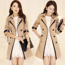 2017 New Coats Woman Ladies Double Breasted Trench Overcoat Jackets