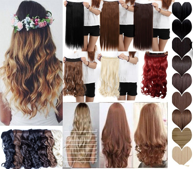 1 Pcs 5 Clips  In Hair Extensions  24