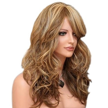 1 Pcs Women's Girl Hair Full Wig New Fashion Long Curly Wavy Wigs Cosplay Props