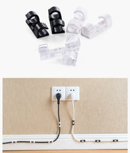 20pcs/pack Self-adhesive Wire Organizer Line Cable Clip Buckle Plastic Clips Ties Fixer Fastener Holder