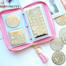 24 Slots BORN PRETTY Stamping Plate Holder Case Round Square Rectangular Nail Art Plate Organizer