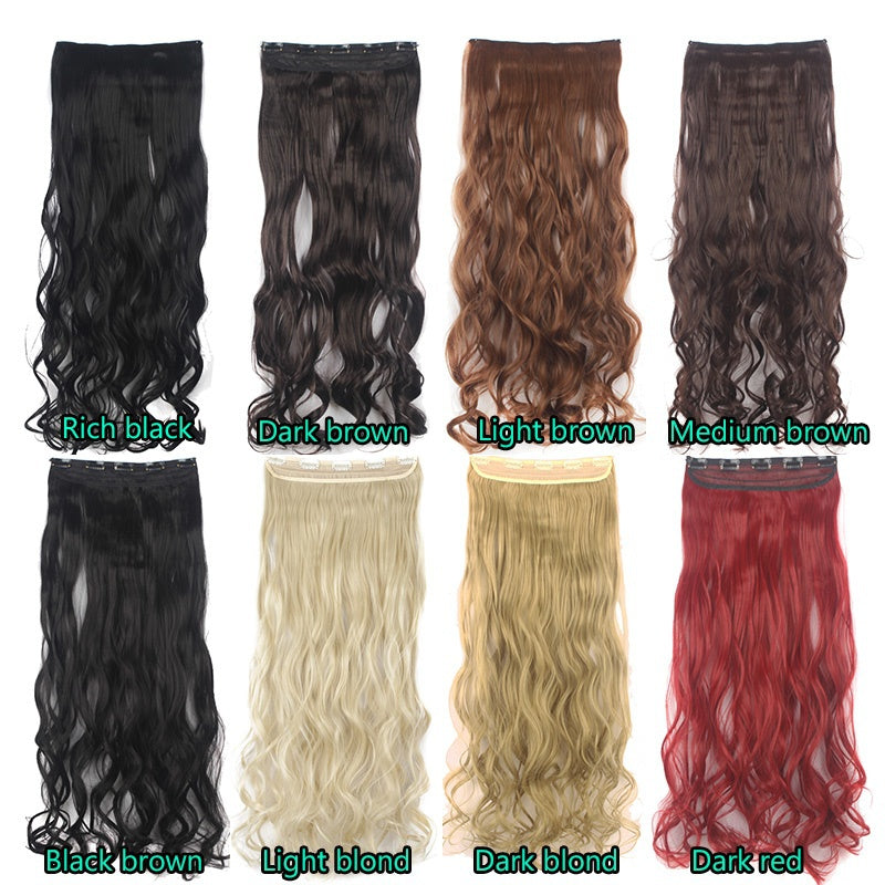 24 1 Pcs Clip In Hair Extensions Hairpiece Synthetic Hair