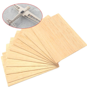 10pcs/pack Wooden Plate Model Balsa Wood Diy House  Aircraft Light 150x100x2mm