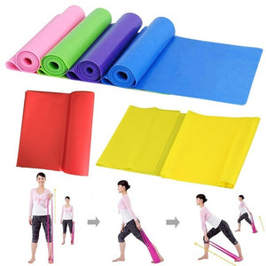 1PCS Latex Fitness Strength Resistance Bands Loop Crossfit Yoga Exercise Random Color
