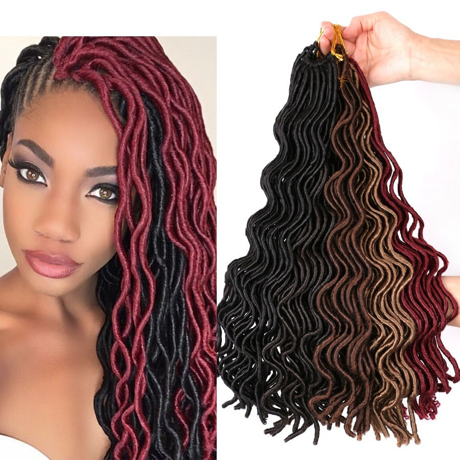 12/20inch 24Roots/Pc Curly Crochet Faux Locs Wavy Dreadlock Extensions Crochet Braids Hair Synthetic Braiding Hair Extensions