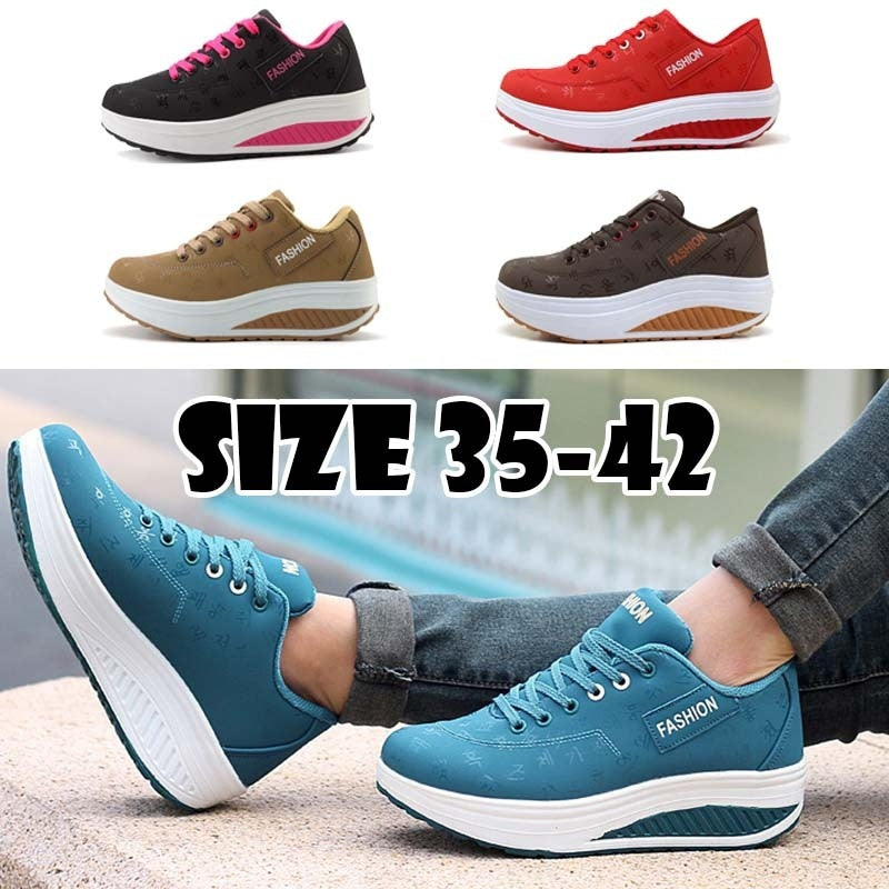 2018 Fashion Sport Comfortable Breathable Single Shoes Ladies Smooth Shoes  Women Casual Thick Bottom Shake Shoes