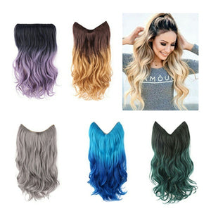 """24"""" Hair Extensions Halo Lady Star Style Beauty Forever Cosplay Fast Sexy Formula Mega Synthetic Curly Flip in Wig"""