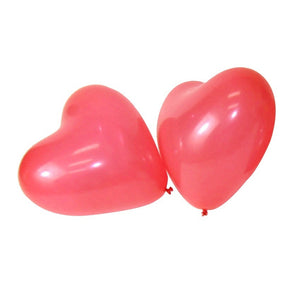 "100 PCS 12"" Red Heart Love Latex Balloons Wedding Birthday Party Valentine's Day"