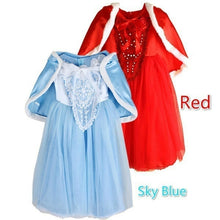 Frozen Kids Girls Dresses Costume Snow White Princess Party Fancy Dress + Cape New Year Gift 2-11Years