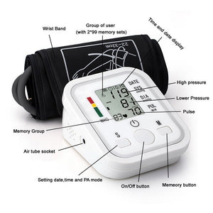 1pc Home Health Care Digital LCD Wrist Blood Pressure Monitor Heart Beat Meter