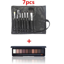 20 pcs/set Makeup Brush Set tools Make-up Toiletry Kit Wool Make Up Brush Set +10 Colors Waterproof Lasting Eye Shadow