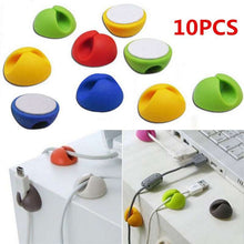 10pcs/set Cable Organizer Clip USB Charger Cord Holder Electric Wire Fixed Clamp