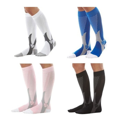 1 Pair Men Women Compression Knee Stockings Sports Running Socks Relief Calf Leg Support