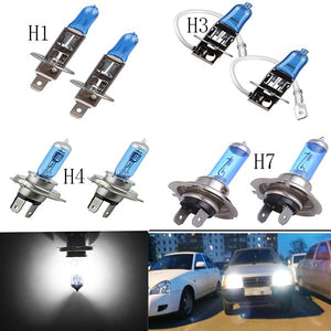 2PCS H1 H3 H4 H7 6000K Xenon Gas Halogen Headlight White Car Light Lamp Bulbs 100W (Size: 12V)