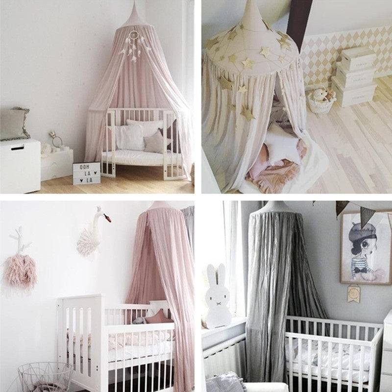 2017 Fashion Nordic Style Dome Mosquito Nets Curtain For Bedding Set Princess Bed Valance Bed Netting Kids Room Decor