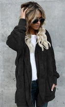 2017 Ladies Fashion Long Sleve Hooded Coat Female Thickened Loose Fur Cardigan Coat with Pockets Women Slim Fit Faux Fur Coat Au