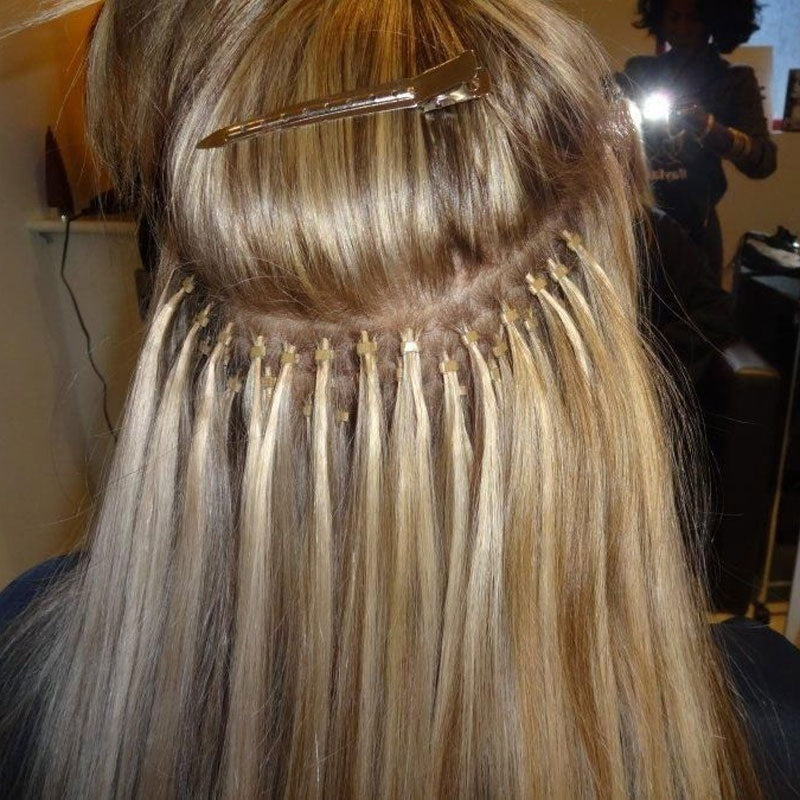 14 26inch 100s Easy Loopmicro Ring Beads Human Hair Extensions