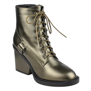 2017 Fashion Beston FM43 Women's Ankle High Top Wrapped Block Heel Combat Booties