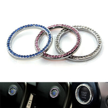 3 Color Car Ring Sticker Crystal Rhinestone Auto Start Engine Ignition Key Bling Sticker Ring Emblem
