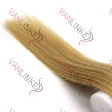 100s Silicone Micro Ring Beads Easy Loopped Tip Women's Real Hair Extensions Straight