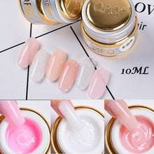 (10ml 30ml)  6 Colors Poly Gel Hard Jelly Builder Gel UV Soak Off Camouflage Polygel Fast Nail Extended Manicure Tools