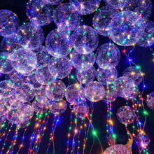 18 Inch LED Wedding Party Glow Transparent Balloon + 3m String Light