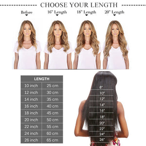 14-24 inch Tape in Real Hair Full Head Remy Hair Extensions Blonde Highlited Extensions