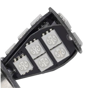 1157 BAY15D 21W 18SMD 5050 Yellow White CANBUS OBC No Error Car LED Light Bulb (Pack of 2)