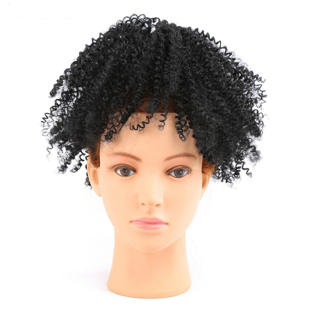 Synthetic Curly Hair African American Short Wrap Synthetic