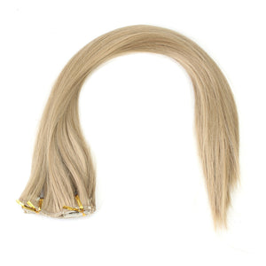 16 Clip/Set Flexible Women Hair Extensions Available Synthetic Full Lace Hair Wigs Glueless Hairpiece Silky Straight Wigs Tape H