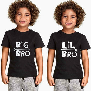 """Big Brother/Little Brother"" Letter Print Kids T Shirt Boy Girl T-Shirt Casual Tee for Children Clothes"