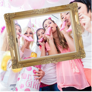 Vintage Frame Photo Booth Props For Wedding Birthday Family Party Paper Photobooth Event Funny Decoration Party Supplie