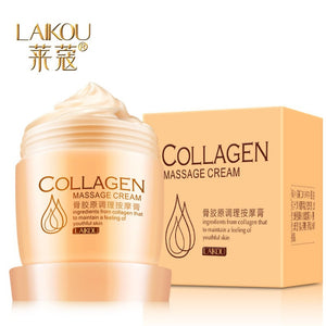 LAIKOU Collagen Facial Massage Cream 80g Deep Cleansing Remove Blackhead Purify Pores Quickly Absord Nutrition