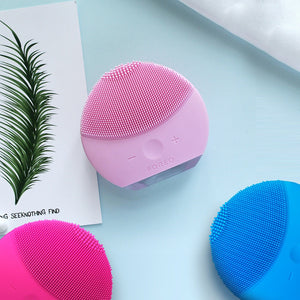 Luna mini2 T-sonic Facial Cleansing Brush Device Rechargeable Skin Care Cleaner Gentle Exfoliation and Sonic Cleansing for All S