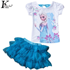Children Clothing Sets Summer Girls Sport Suit Fashion MOANA Girls Clothes Sets For Short Sleeve Kids Clothes 3 4 5 6 7 8 Years