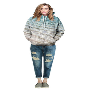 2016 Hot Sale Couples Lovers Sweatshirt 3d Printed Pocket Pullovers Casual Long Sleeve Loose Hoodies For Men/Women